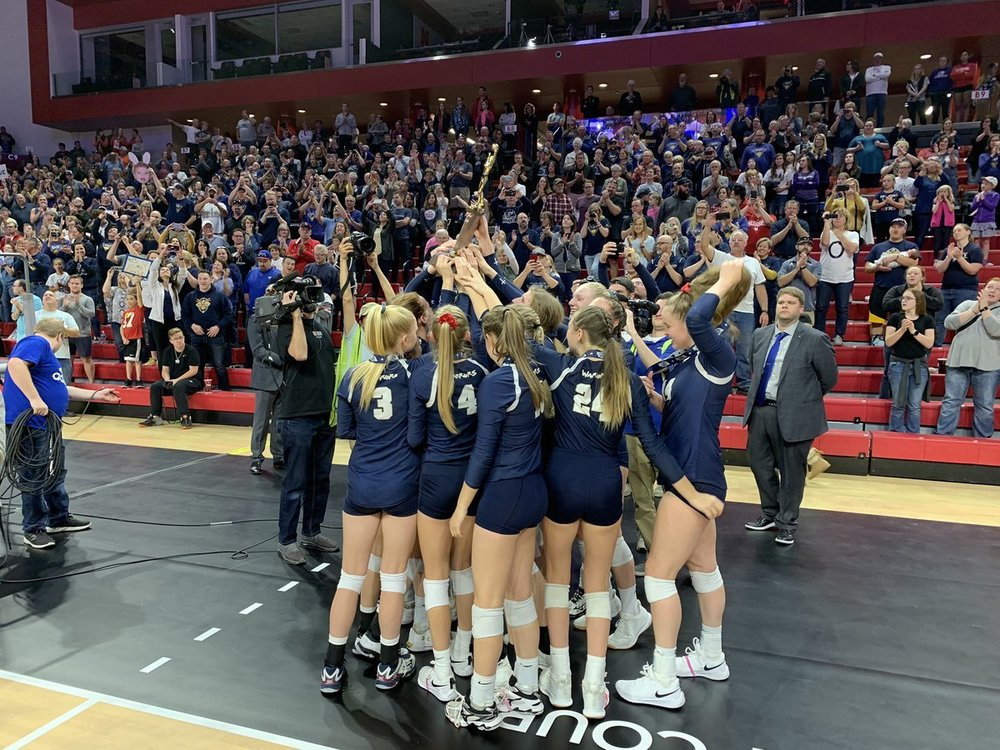 2019 State Champs for Volleyball