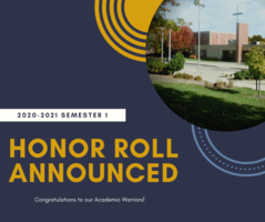 Lincoln Lutheran is pleased to announce 2020-2021 Semester 1 Honor Roll