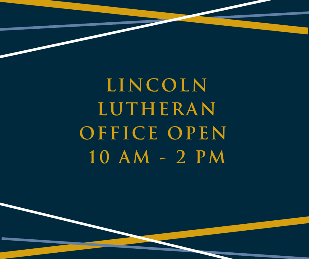Office Hours sign - navy background with gold writing and blue and gold lines
