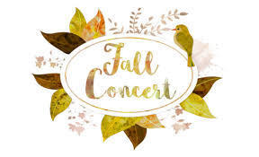 Fall Concert with autumn leaves and bird