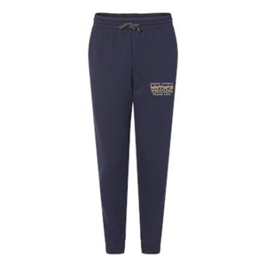 Navy woman's joggers with Warriors Wrestling logo