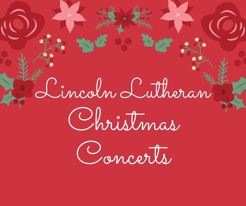 Christmas Concert Poster with red background and Christmas flower border