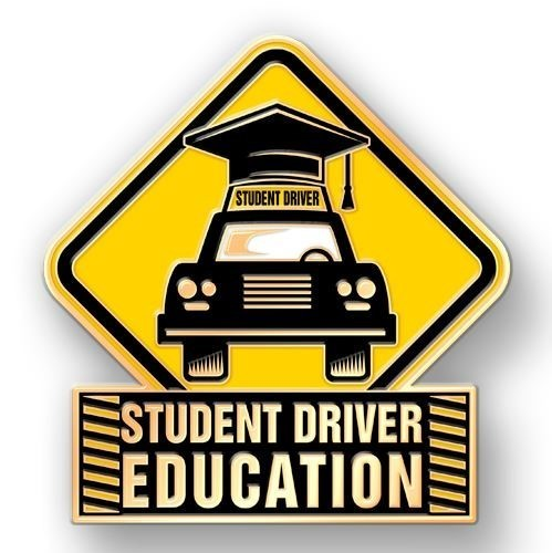 Car with student driver sign & cap