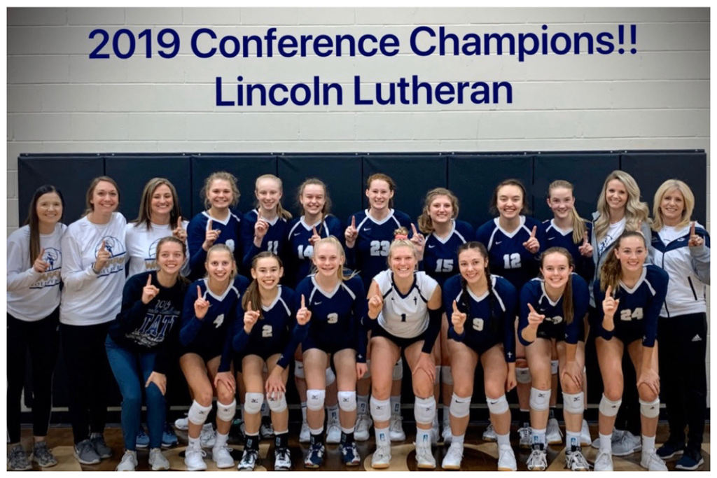 Volleyball players - Conference champions