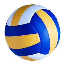 Blue, Yellow and White volleyball