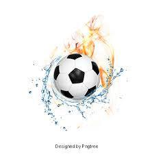 Soccer Ball with flames and water
