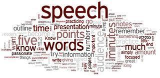 Speech word cloud