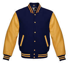 Navy & Gold Letterman's Jacket