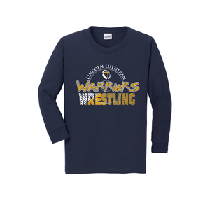Warriors Wrestling Navy blue long sleeve shirt