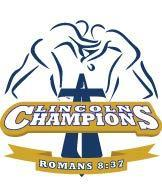 Lincoln Champions Logo with Wrestlers