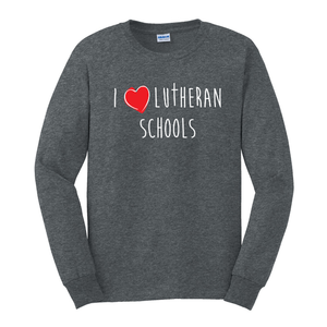 I love Lutheran Schools long sleeve shirt
