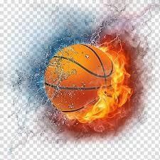 Colorful Basketball on fire