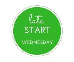 Late Start Wednesday on a green background