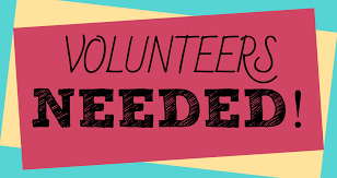 Volunteers Needed sign