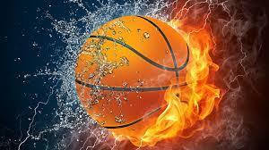 Basketball Fire and Water graphic