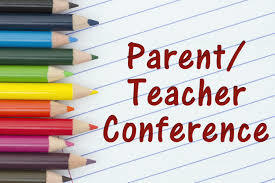 "Colored pencils and lined paper with ""Parent/Teacher Conference"""