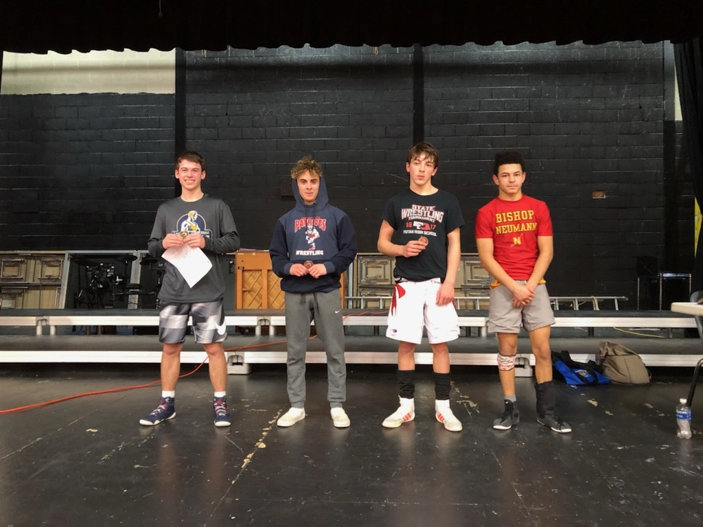 Wrestlers receiving awards
