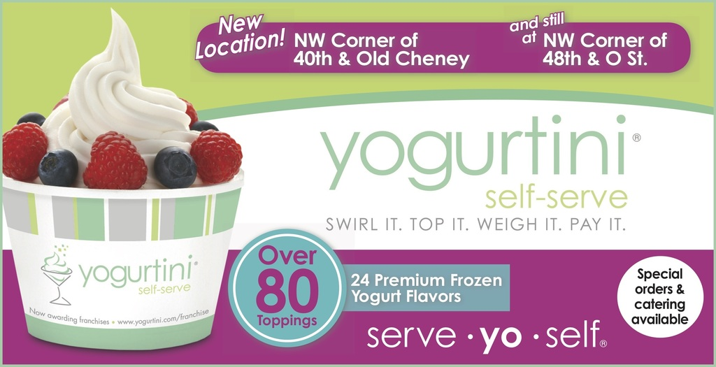Yogurtini cup of yogurt with fruit