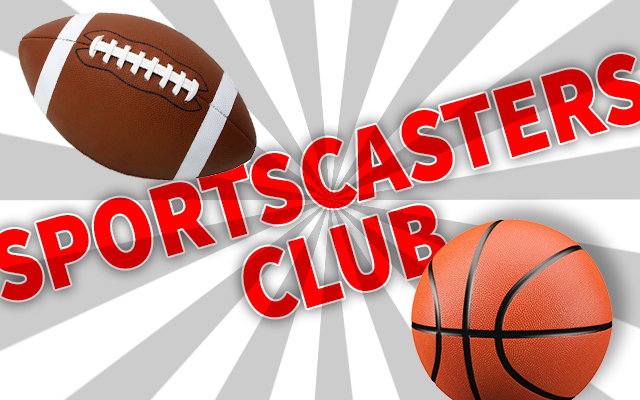 Sportscaster Club with football and basketball