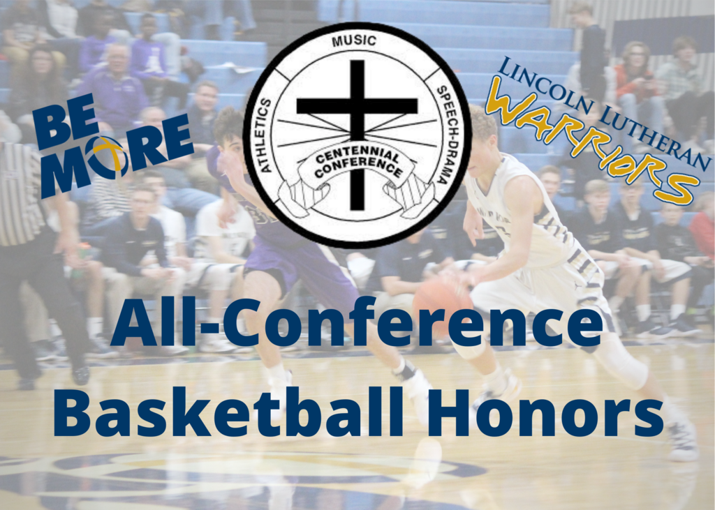 Centennial Conference Logo with All-Conference Basketball Honors