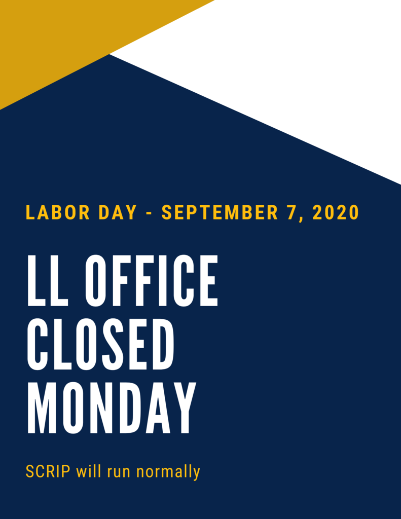 Office Closed on Navy, Gold and White background