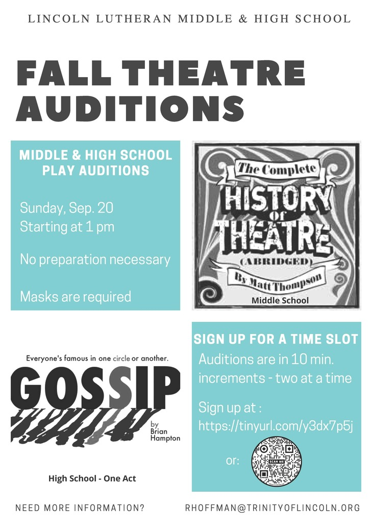 Fall Theatre Auditions
